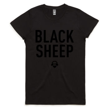 BLACK-ON-BLACK SHEEP WOMENS TEE Thumbnail