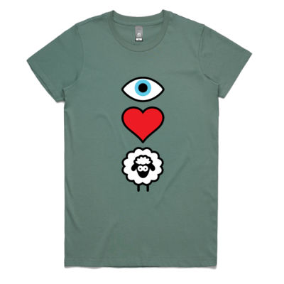 EYE HEART EWE WOMENS TEE Thumbnail