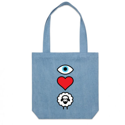 EYE HEART EWE DENIM CARRY BAG Thumbnail