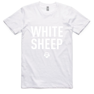 WHITE-ON-WHITE SHEEP MENS TEE Thumbnail